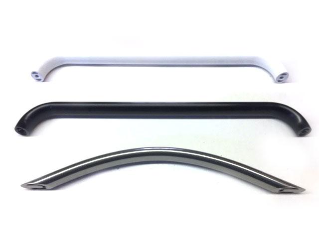 Maniglia in ellittico di alluminio 22x24 varie forme e finiture